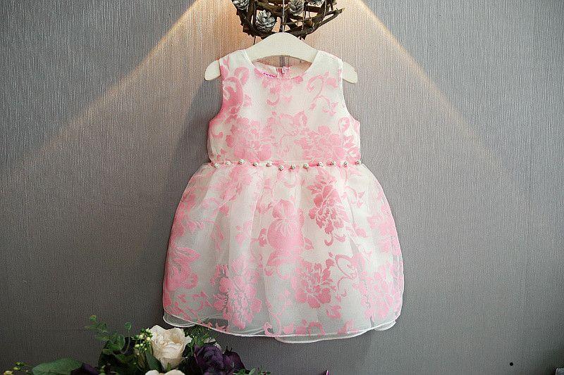 Bosudhsou Yyy 43 New Summer Cute Baby Girl Dress Organza Floral