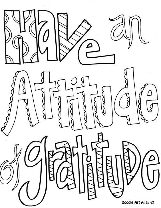 Have An Attitude Of Gratitude Coloring Pages For Older Kids Quote Coloring Pages Color Quotes Printable Coloring Pages