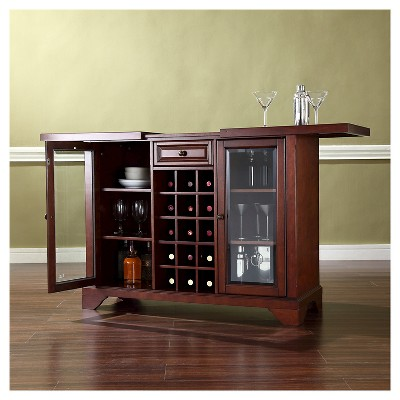 LaFayette Sliding Top Bar Cabinet - Mahogany - Crosley ...