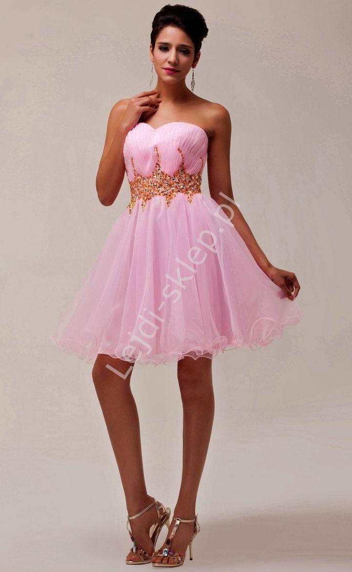 be01dc44b0 Sukienka z kryształkowym pasem