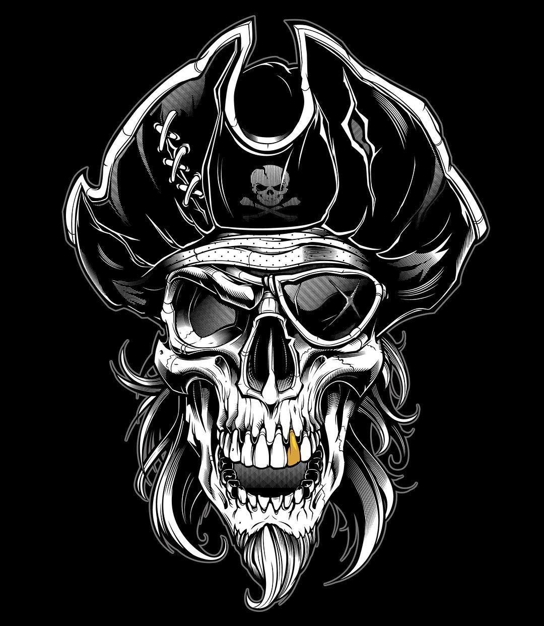 Immagini Di Teschio Pirati finished shed piece. #sweyda #vector #illustration #pirate