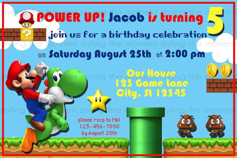 Mario Party Invitation Template