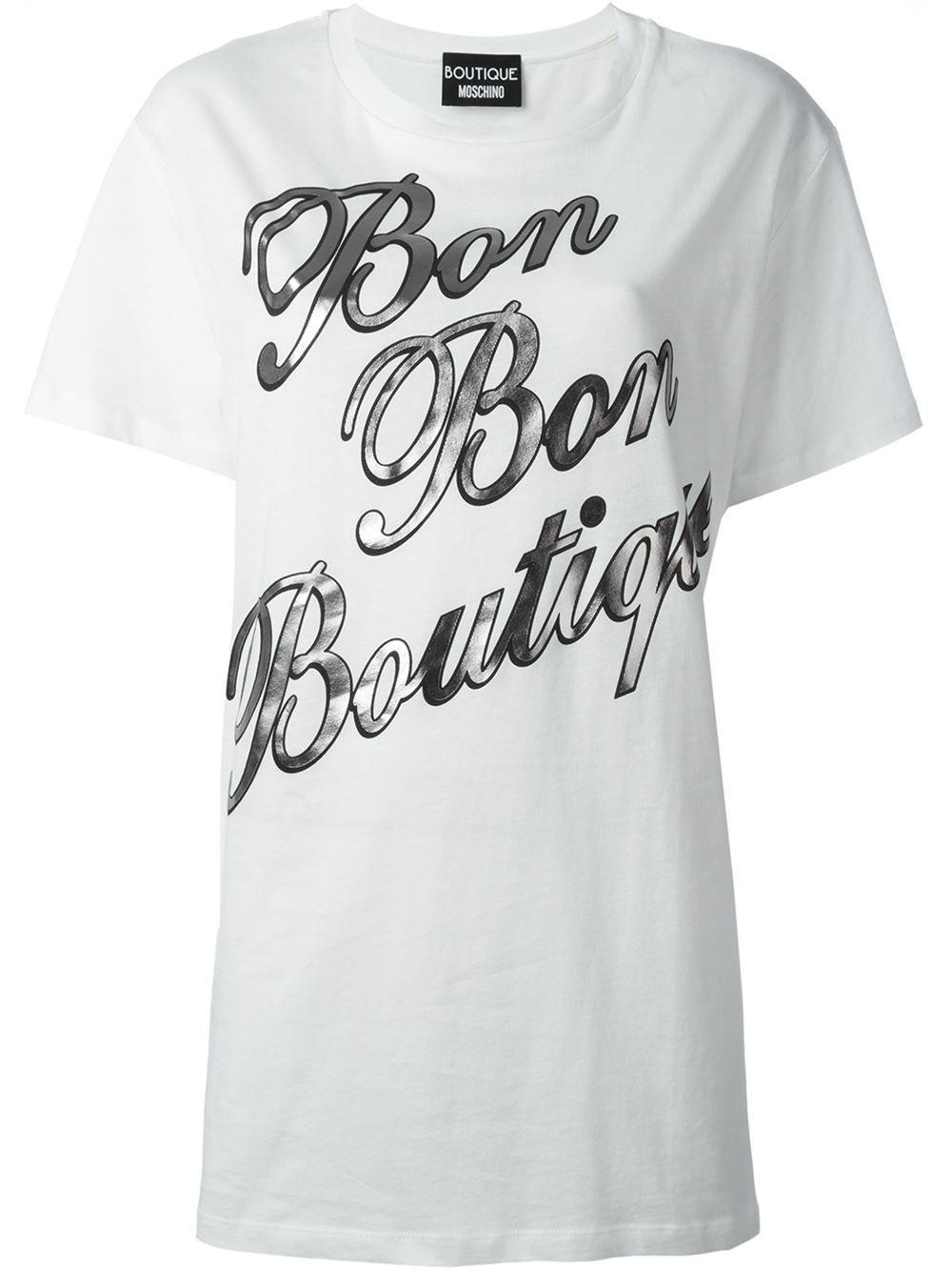 Boutique Moschino Bon Bon Boutique print T-shirt