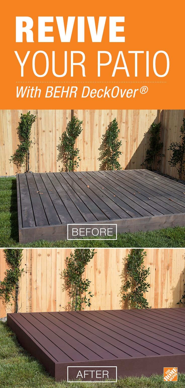 Terrasse Exterieur Home Depot Deck Restoration With Behr S Deckover The Home Depot Cleaning