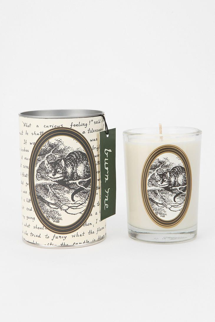 Soap And Paper Factory Alice In Wonderland Glass Candle  #UrbanOutfitters - decorating with book illustrations
