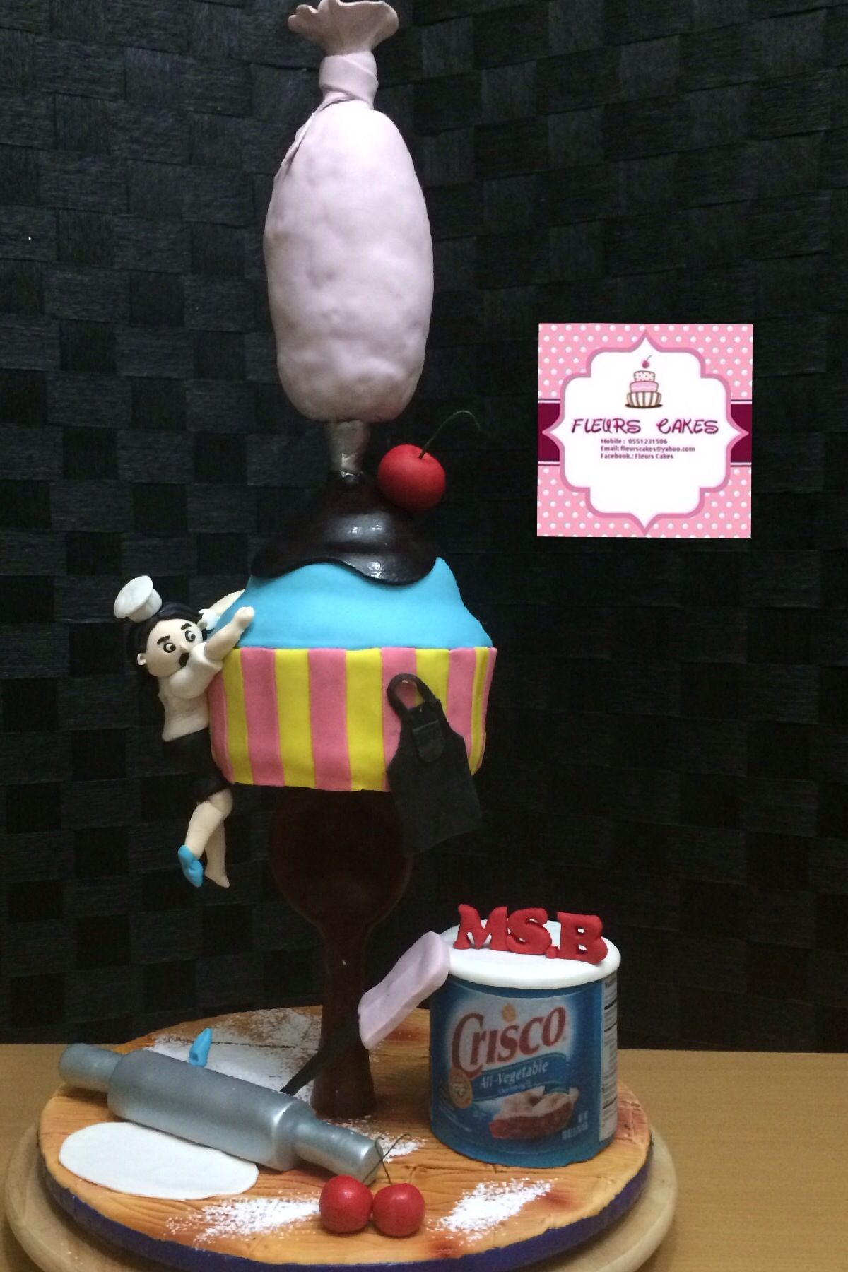 Gravity defying cake