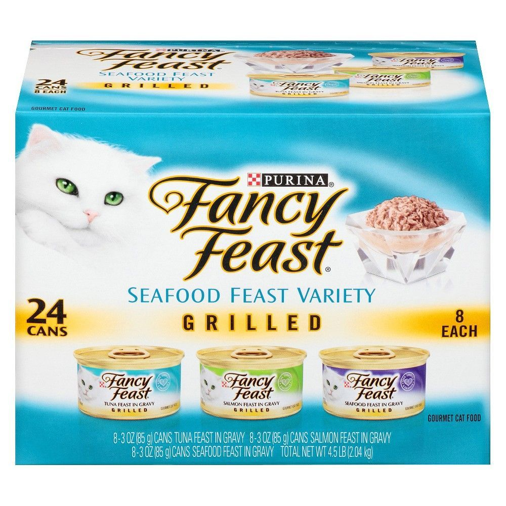 Purina Fancy Feast Gravy Wet Cat Food Variety Pack Seafood
