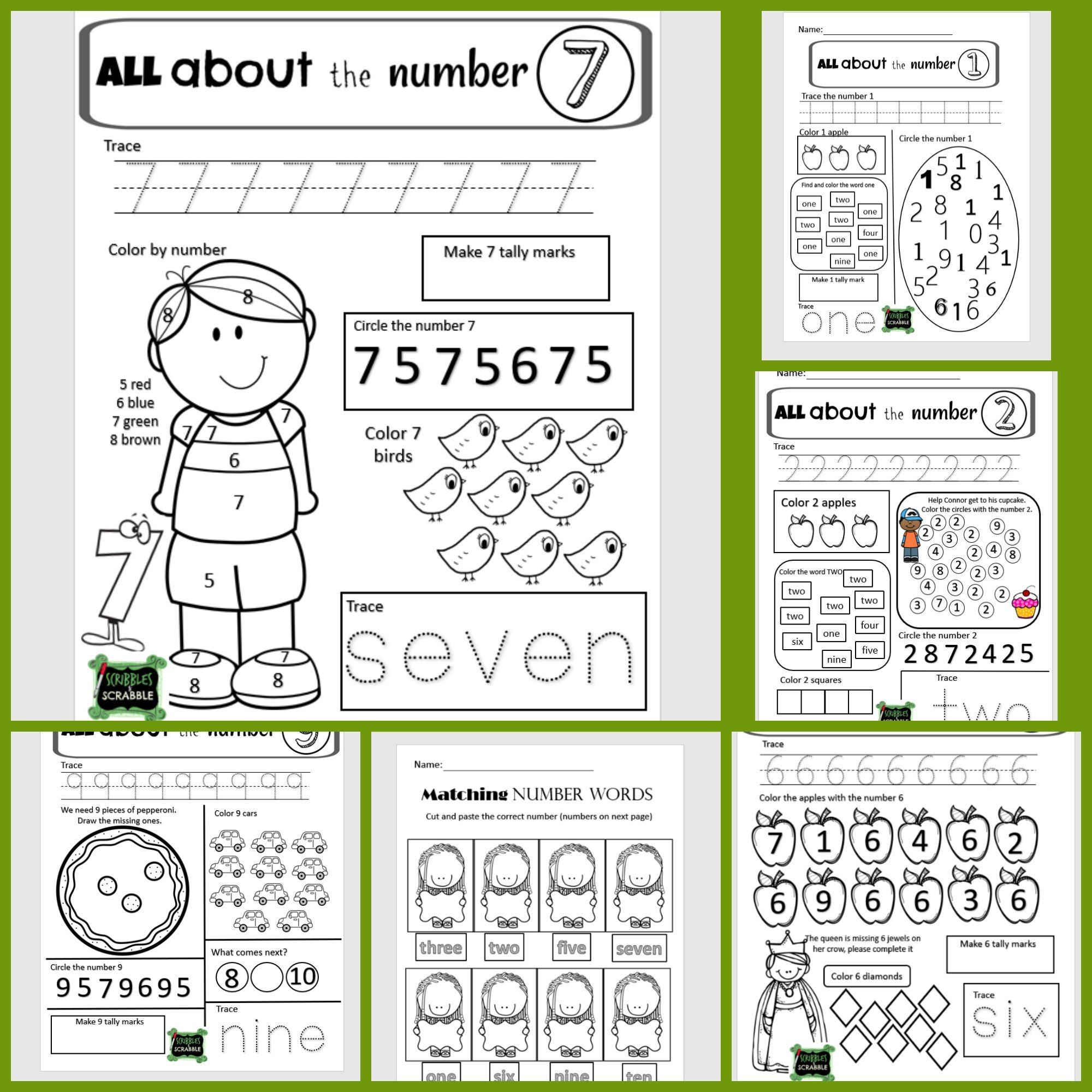 Counting Sets Numbers 1 15 By Scribbles And Scrabble Teachers Pay Teachers Kindergarten Resources Teachers Teaching Materials [ 2000 x 2000 Pixel ]