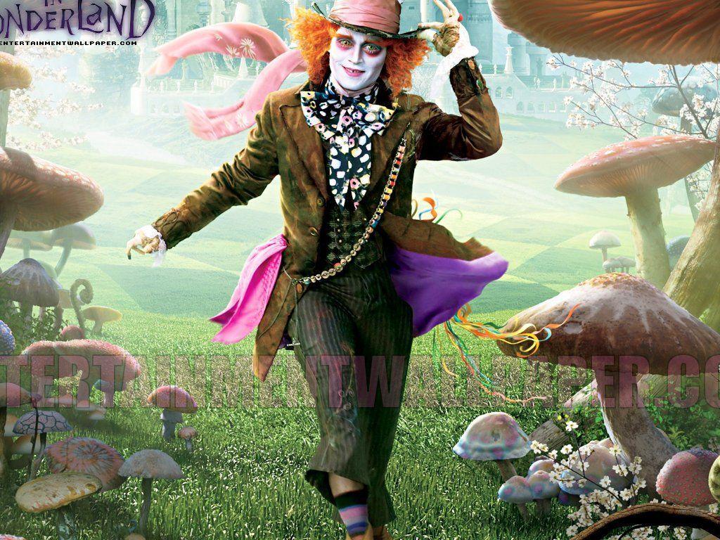 Johnny Mad Wallpaper Hatter Wonderland Depp Alice