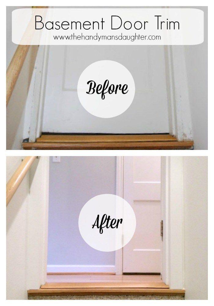 Elegant Basement Door Frame