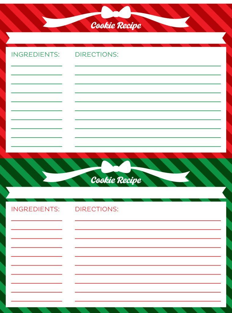 Free Cookie Exchange Printables Cookie Exchange Recipes For Cookie Exchange Recipe Card Template In 2021 Cookie Exchange Recipes Recipe Cards Template Recipe Cards