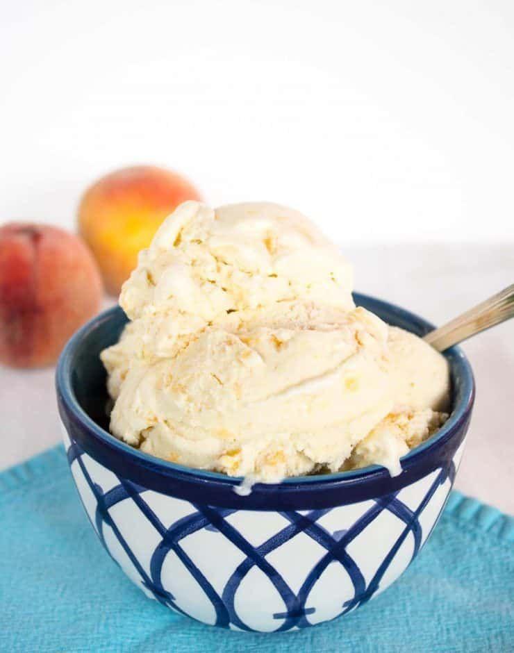 Old Fashioned Peach Ice Cream Recipe Peach Ice Cream Homemade Peach Ice Cream Ice Cream Maker Recipes
