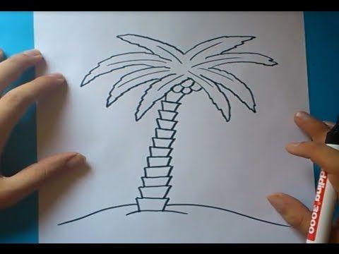 Como dibujar una palmera paso a paso 2 | How to draw a palm tree 2 ...