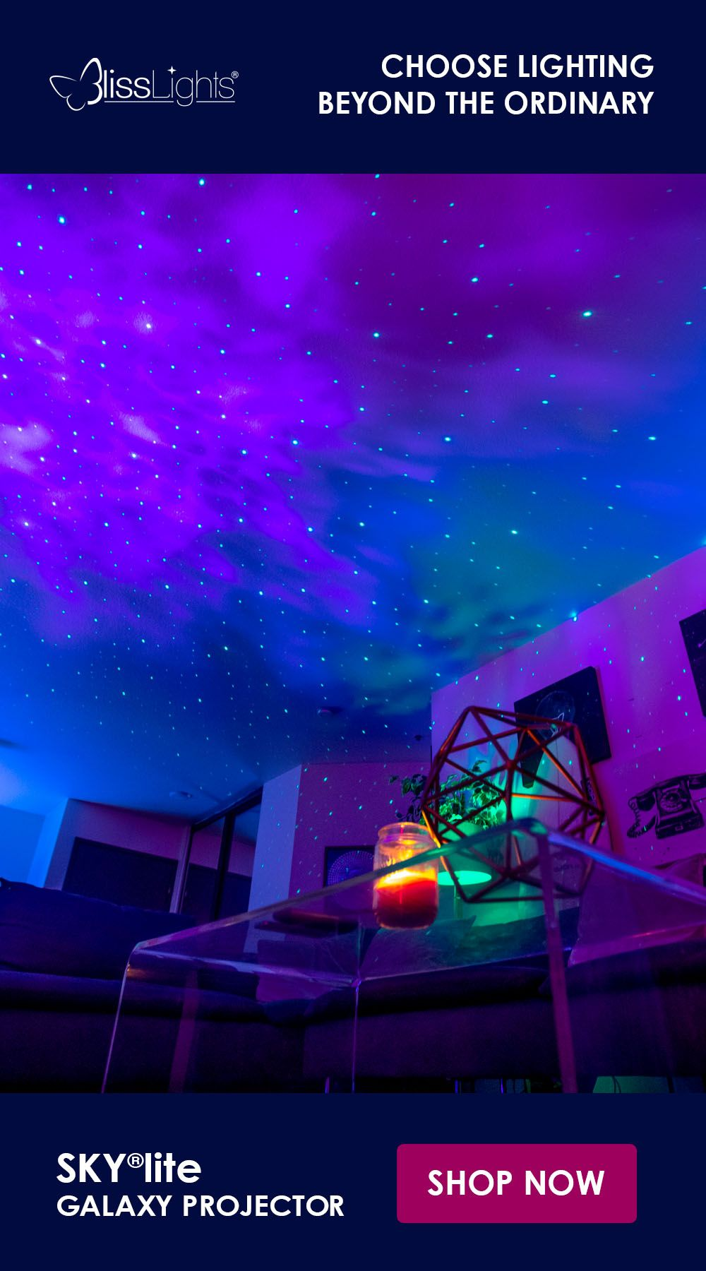 Skylite Laser Galaxy Projector Neon Room Awesome Bedrooms Hippy Room