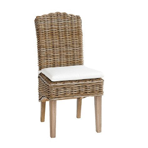 Simone Wicker Chairs Driftwood Gray Set Of 2 349 Ballard