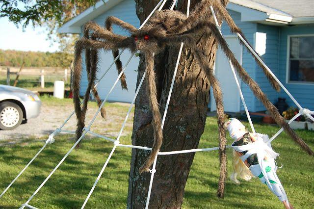 Giant Clothesline Spider Webs Halloween Spider Decorations Diy