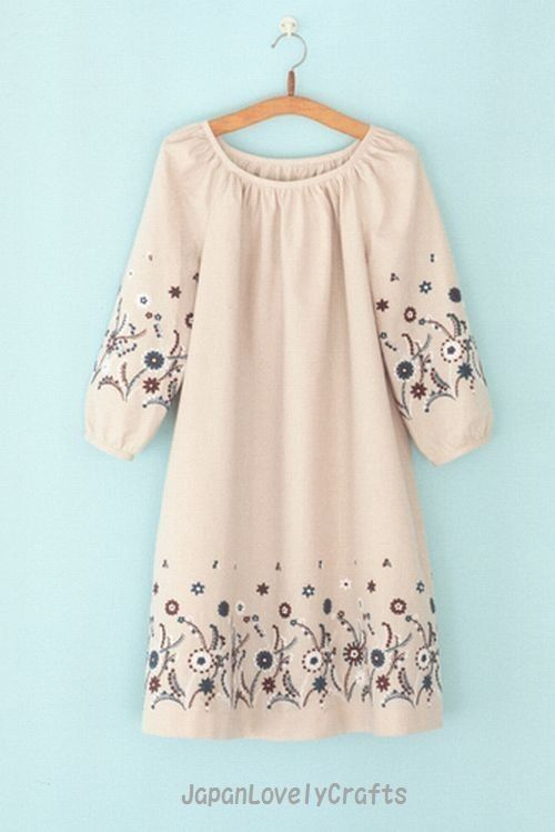 Simple Style Dress Pattern, Japanese Style Garment, Machiko Kayaki ...
