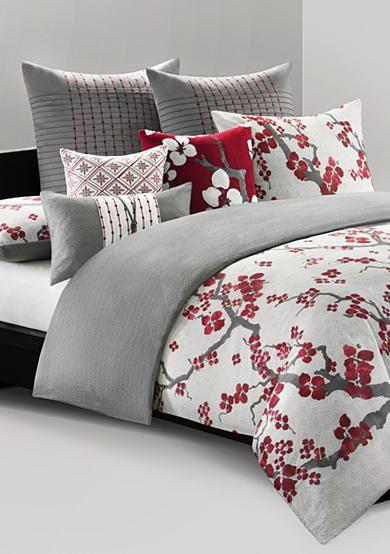 N Natori Cherry Blossom Bedding Collection Bedding Sets Grey Bedding Collections Bed