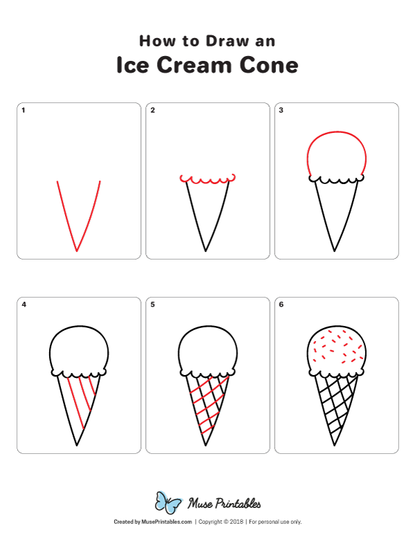 Photo of How to Draw an Ice Cream Cone, #cone #Cream #draw #Ice #drawings #drawing ideas