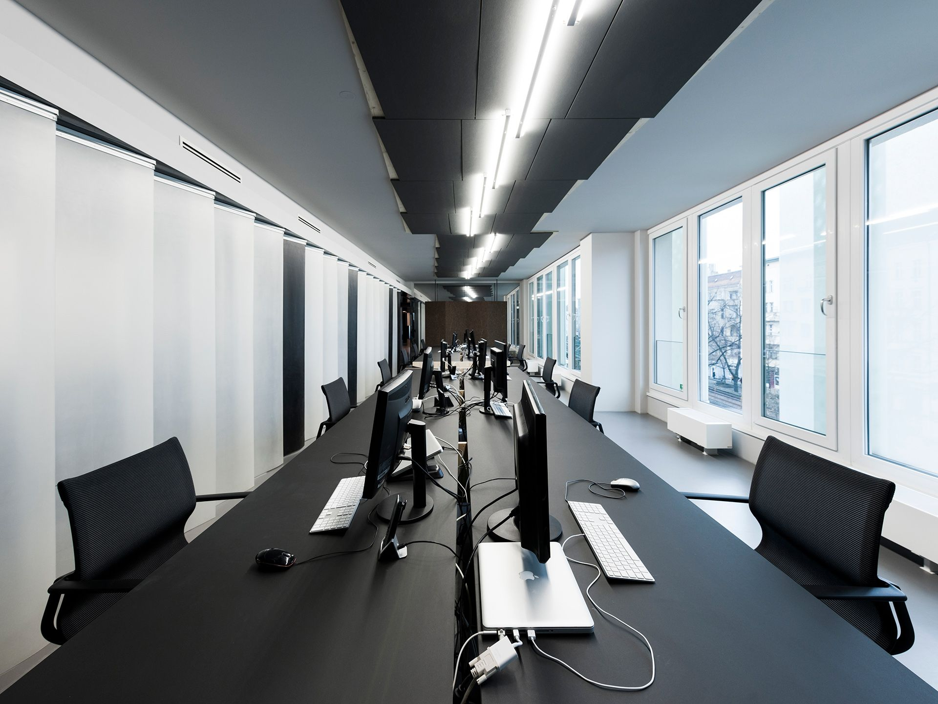 commercial office design office space. Ceiling Design, Office Designs, Workplace, Spaces, Auditorium, Berlin, Offices, Ceilings, Commercial Design Space