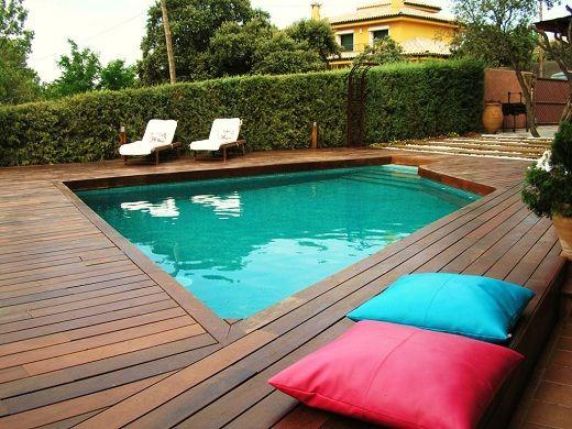 Dise os de jardines con piscinas jardines peque os con for Ideas para patios con piscina