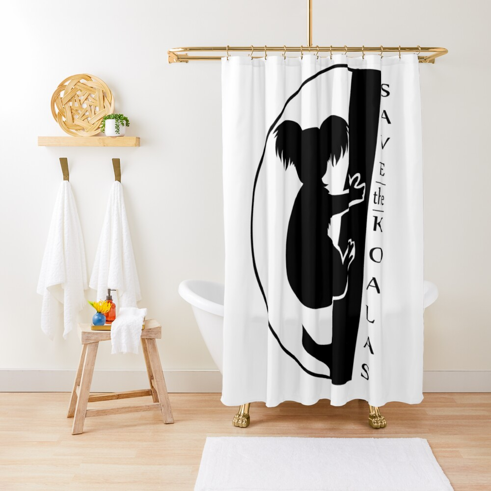 Save The Koalas Shower Curtain In 2020 Curtains Design