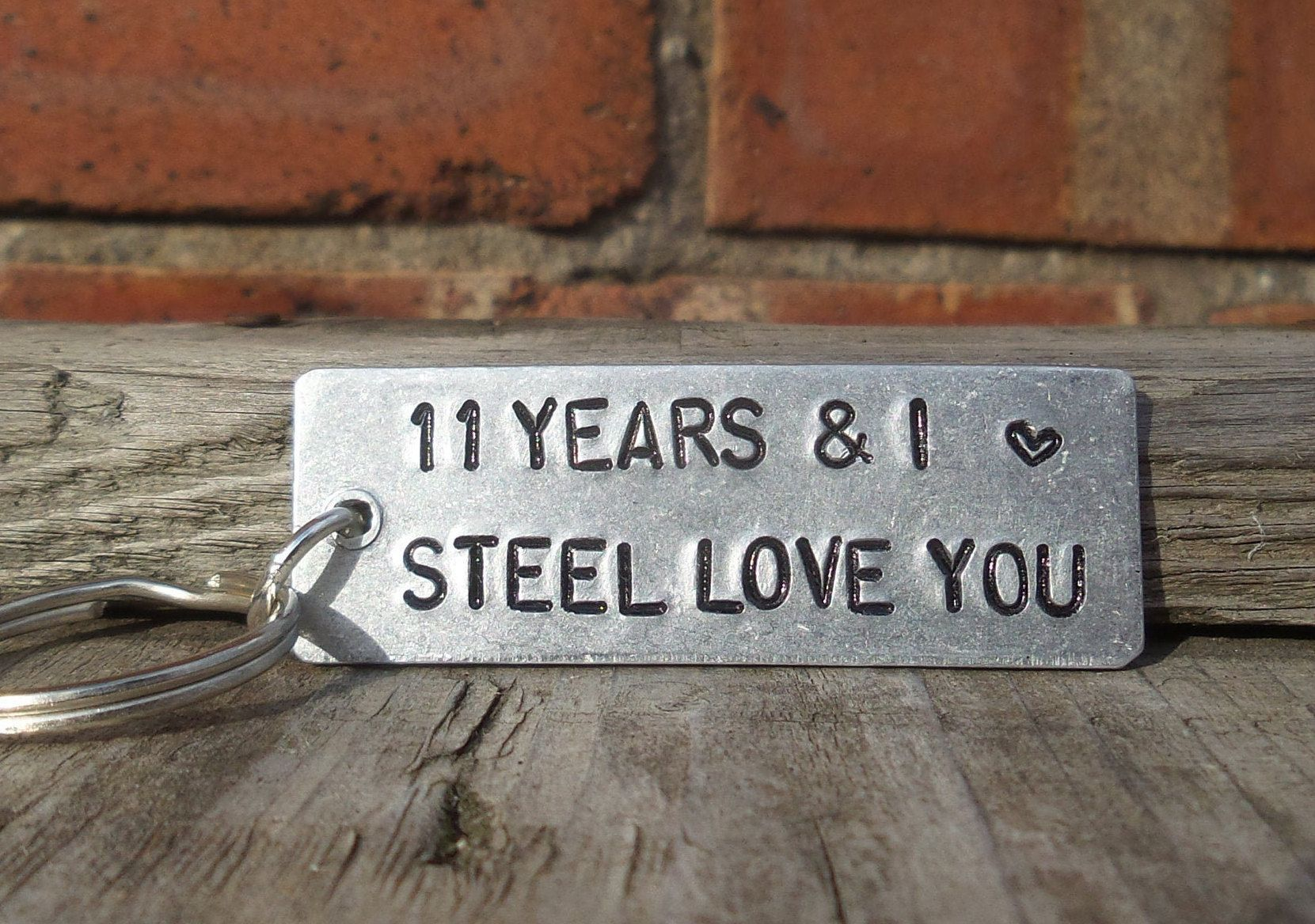 11 Years And I Steel Love You Personalised 11th Wedding Anniversary Gifts For Men Women Anniversary Husband Wife Traditi Steel Anniversary Gifts Anniversary Gifts For Parents 11 Year Anniversary Gift