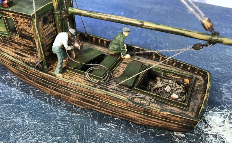 O On30 1 48 Scale Combination Fishing Boat Model Boats Building Fishing Boats Scale Model Ships