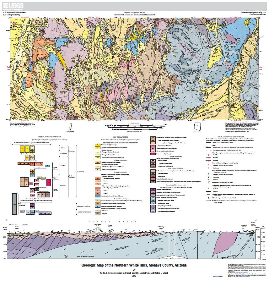 Geologic map of the northern White Hills Mohave County Arizona