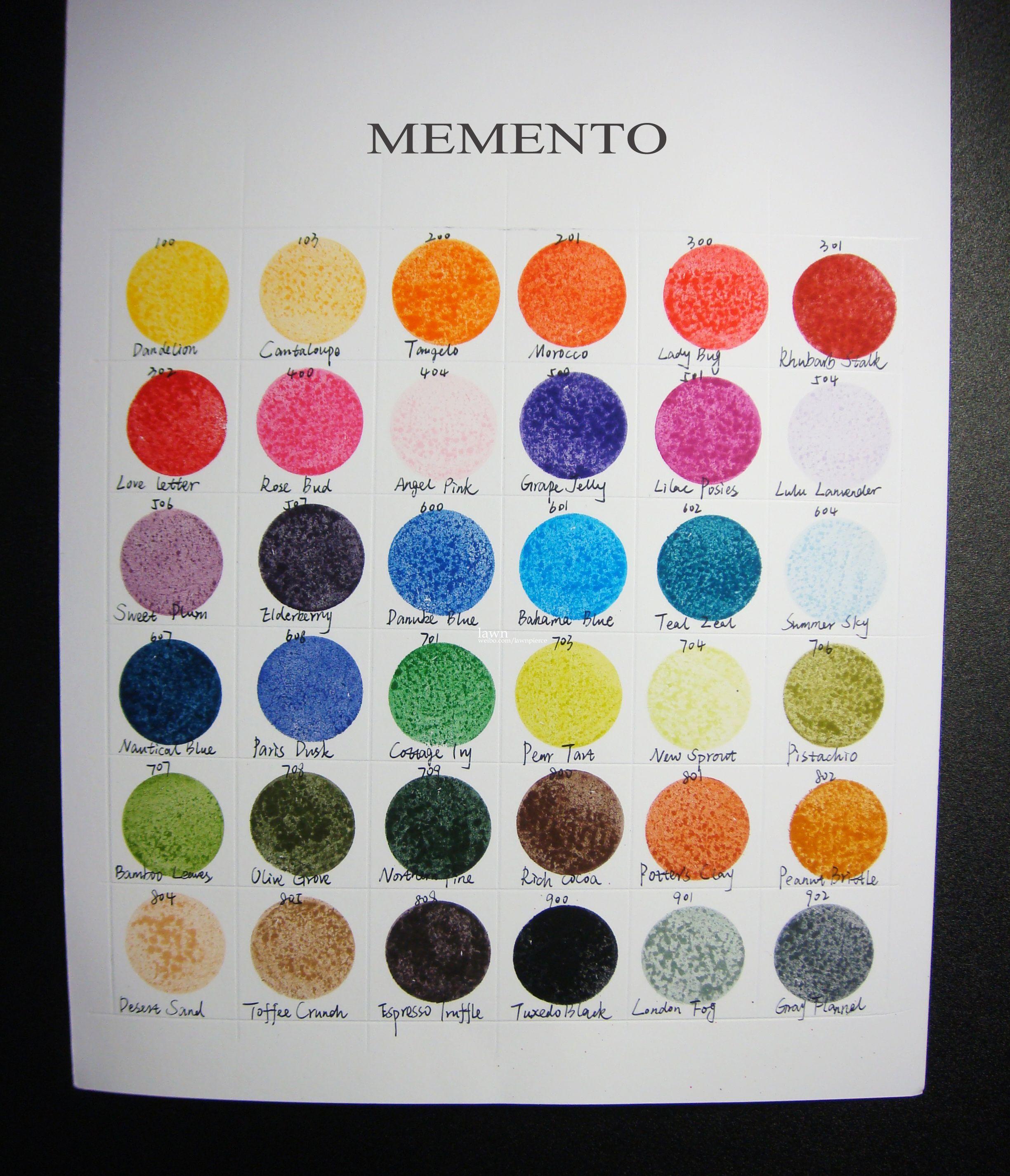 Memento color chart color pinterest colour chart chart and memento color chart nvjuhfo Image collections