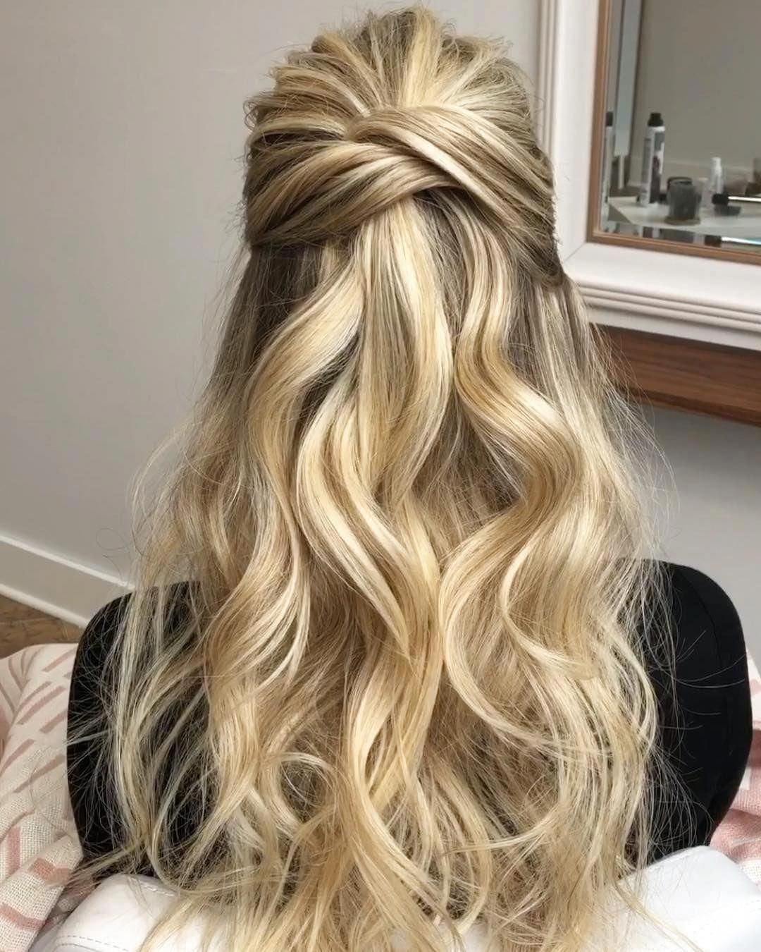 27 Prettiest Half Up Half Down Prom Hairstyles for 2019 - Style My Hairs