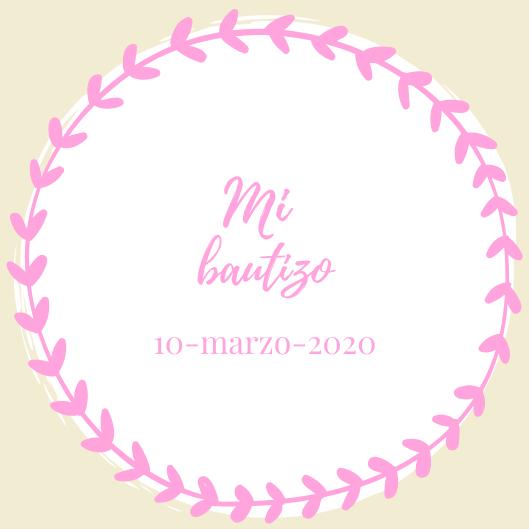Mi Bautizo Rosa Bautizo