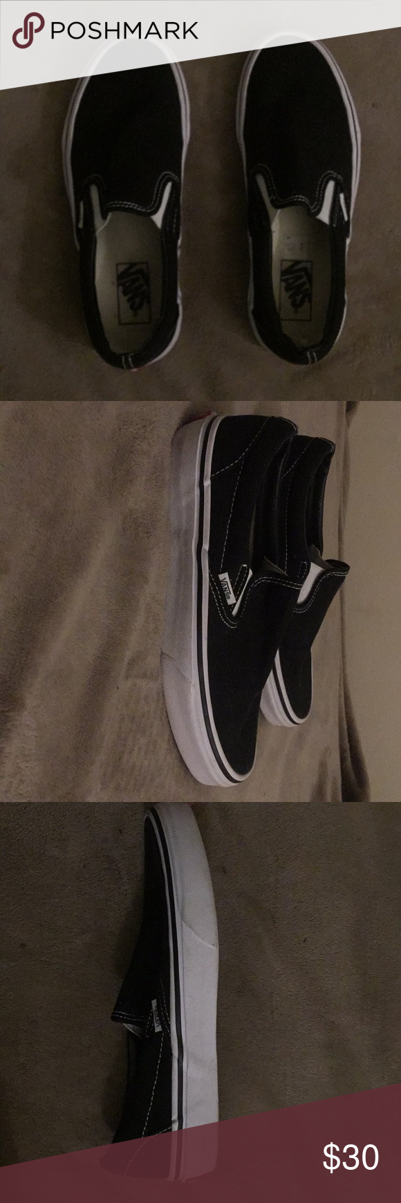 black vans with white soles