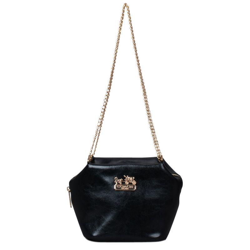 Coach Saffiano Logo Small Black Crossbody Bags EMG #BESTSALE #COACH