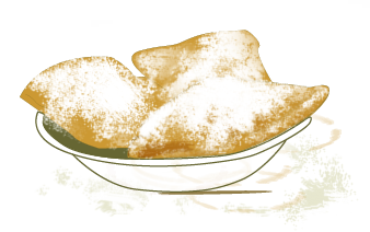 BEIGNETS   Beingets são uma delícia que descobri, também, em New Orleans, no Cafe du Monde. Podem ser simples ou recheados ...