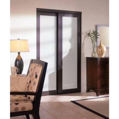 TRUporte 2230 Series 60 In. X 80 In. Espresso 1 Lite Composite Universal  Grand Sliding Door
