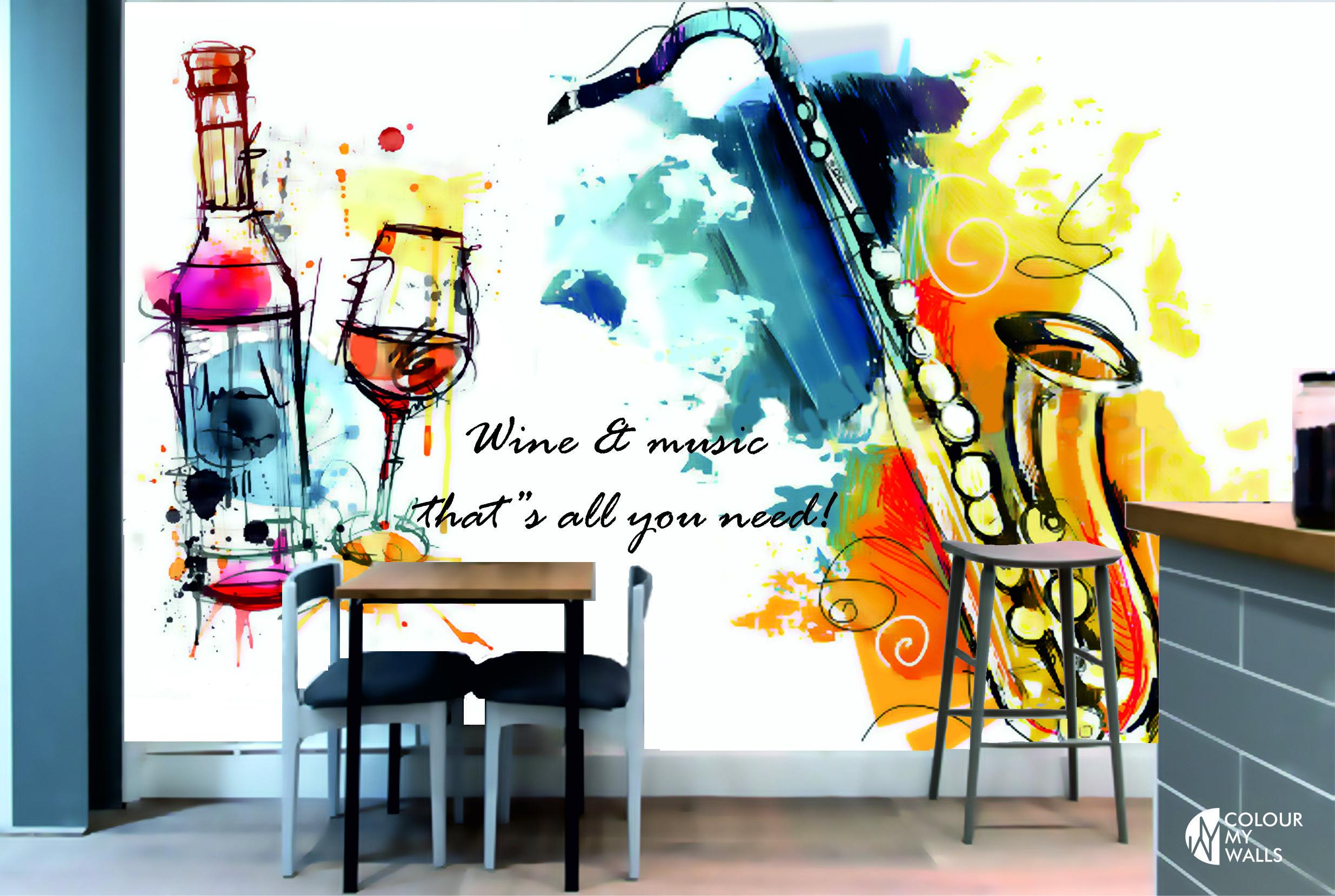 decorative murals idea restaurant bar pub by COLOUR MY WALLS ...