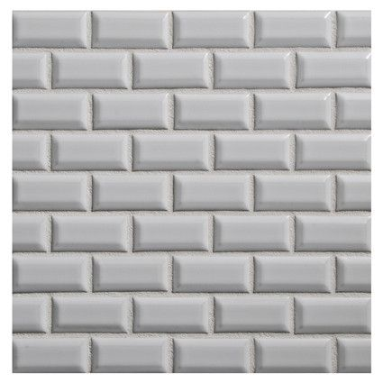 excellent dimensions of subway tile. CERAMIC TILE  Dimensional Mosaic Ceramics Beveled Mini Brick 1 x 2