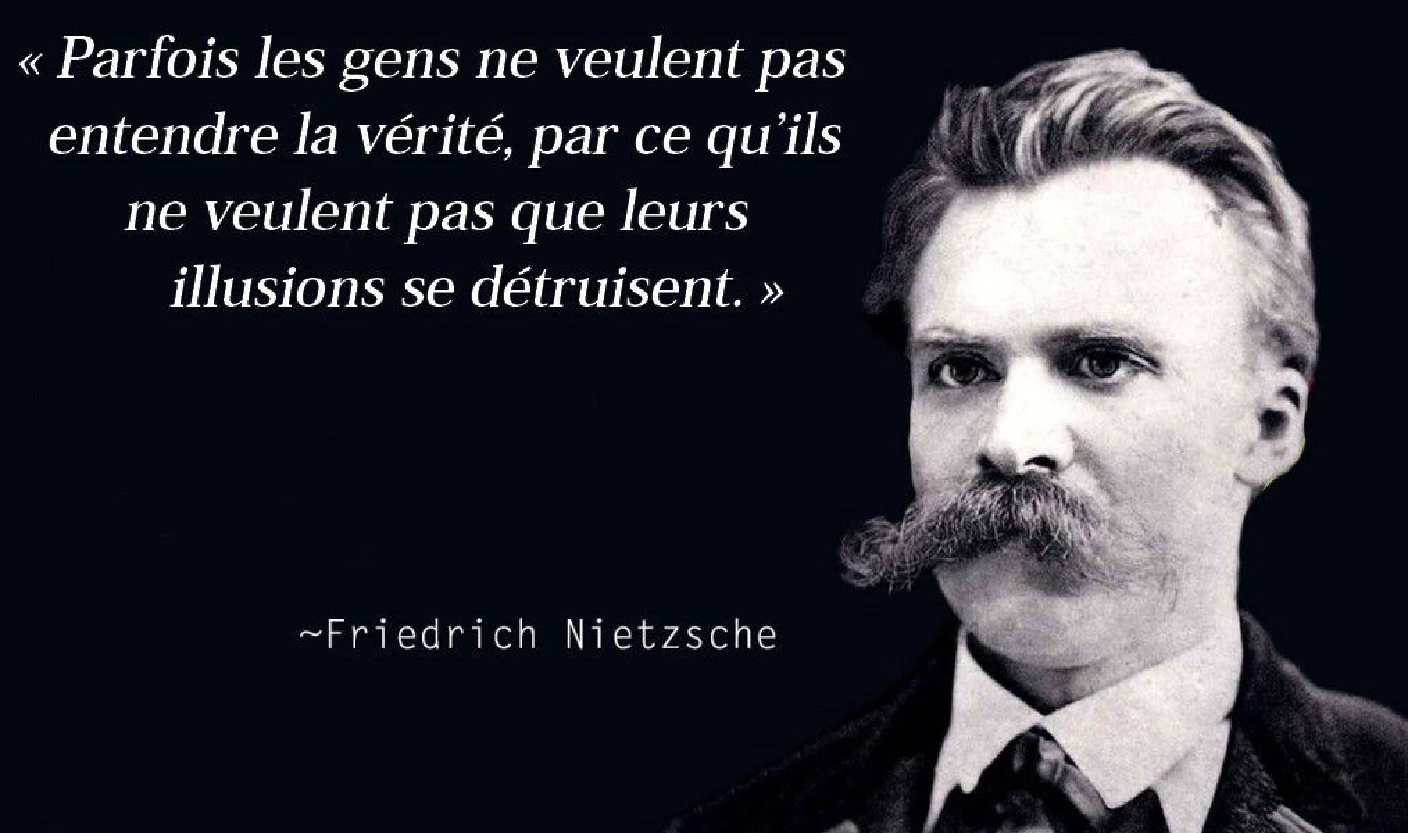 Partage Of Les Repliques Intellectuelles On Facebook Nietzsche Truth Quotes True Quotes