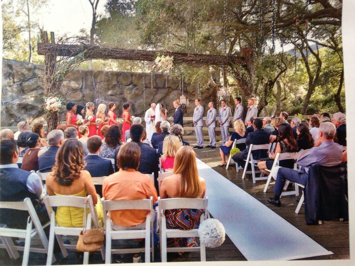 Ceremony Calamigos ranch wedding, Oaks room, Ranch wedding