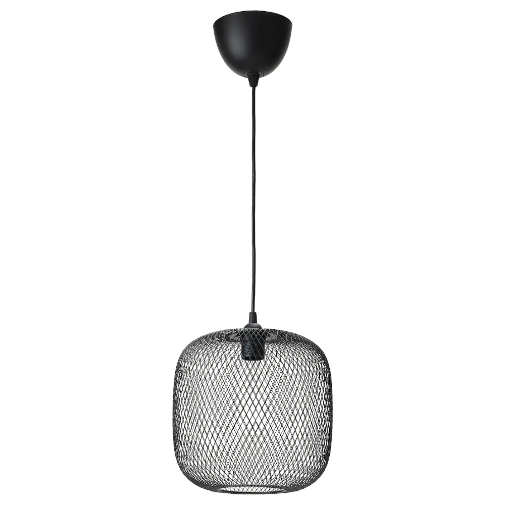 Luftmassa Hemma Pendant Lamp Rounded Black 10 Ikea In 2020 Decorative Light Bulbs Pendant Lamp Lamp
