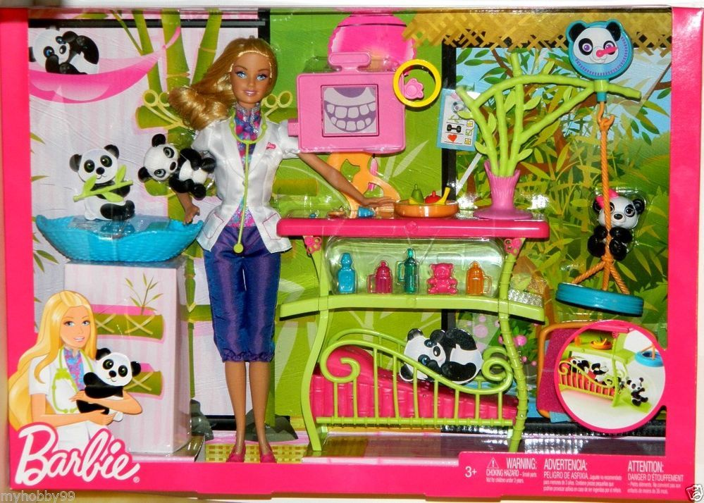 Barbie Doll I Can Be A Panda Caretaker Play Set With Images