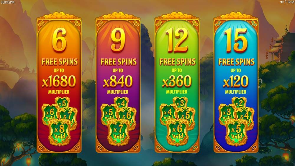 Eastern Emeralds Slot - Free Spins Selection