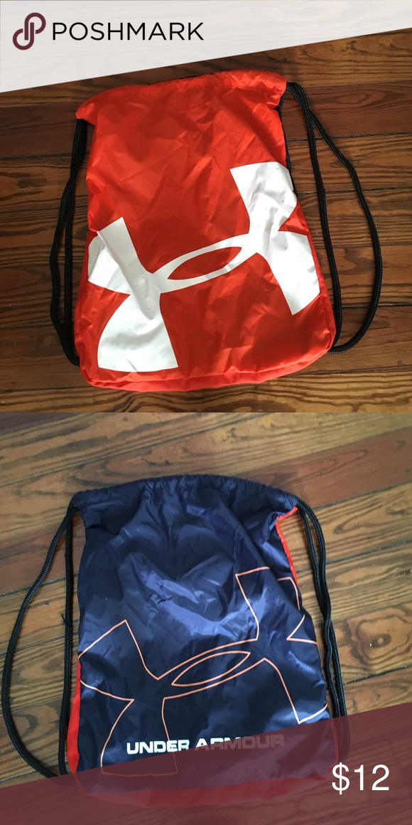 Under Armour Drawstring Backpack Navy and orange drawstring bag. Great  condition! Under Armour Bags ac7a780e67