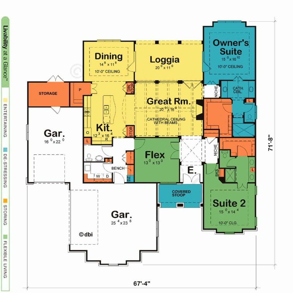 House plans with two master suites design basics http for First floor master home plans