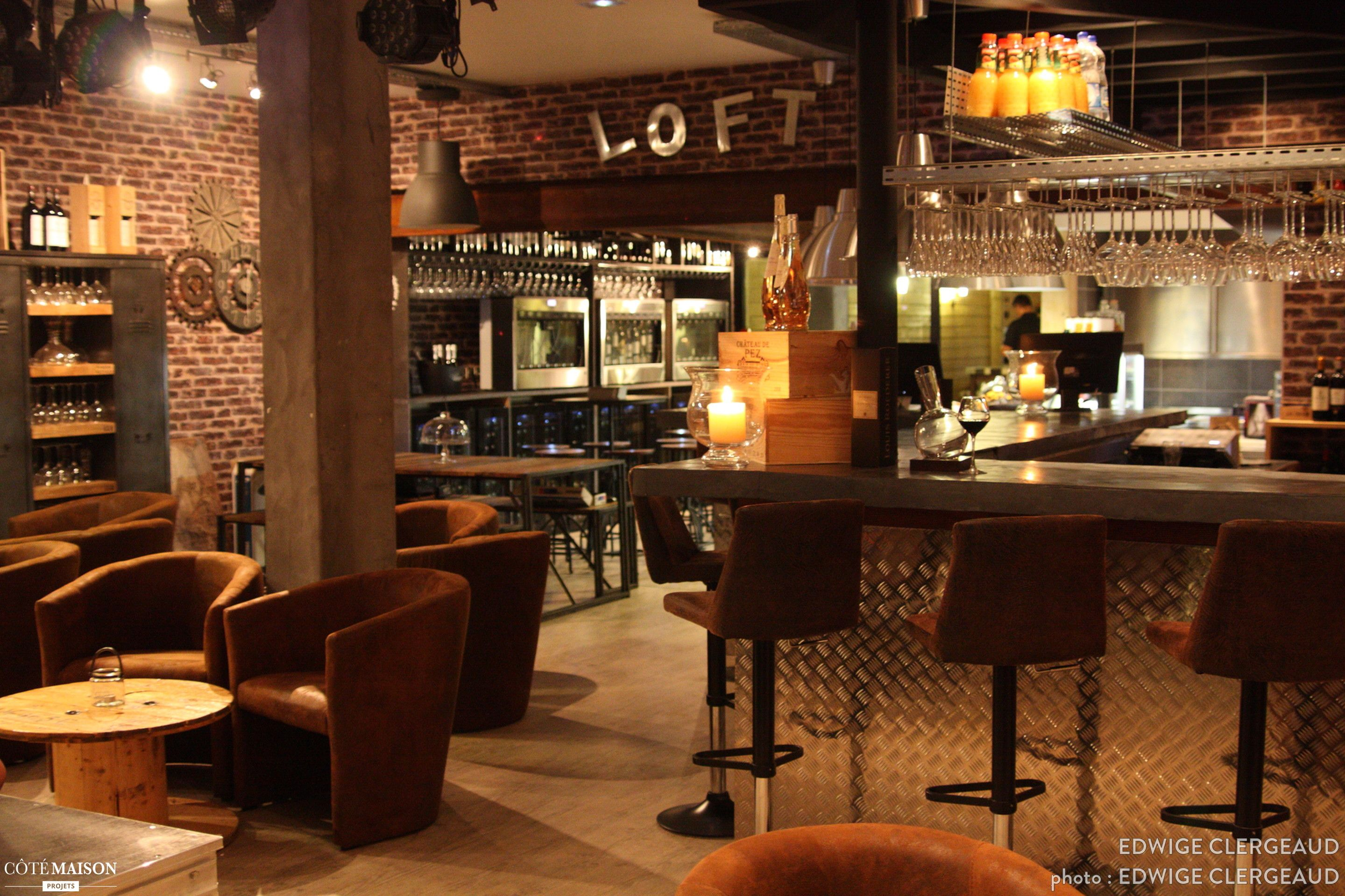 Un bar vins d 39 inspiration loft industriel andernos les for Cuisine industrielle restaurant