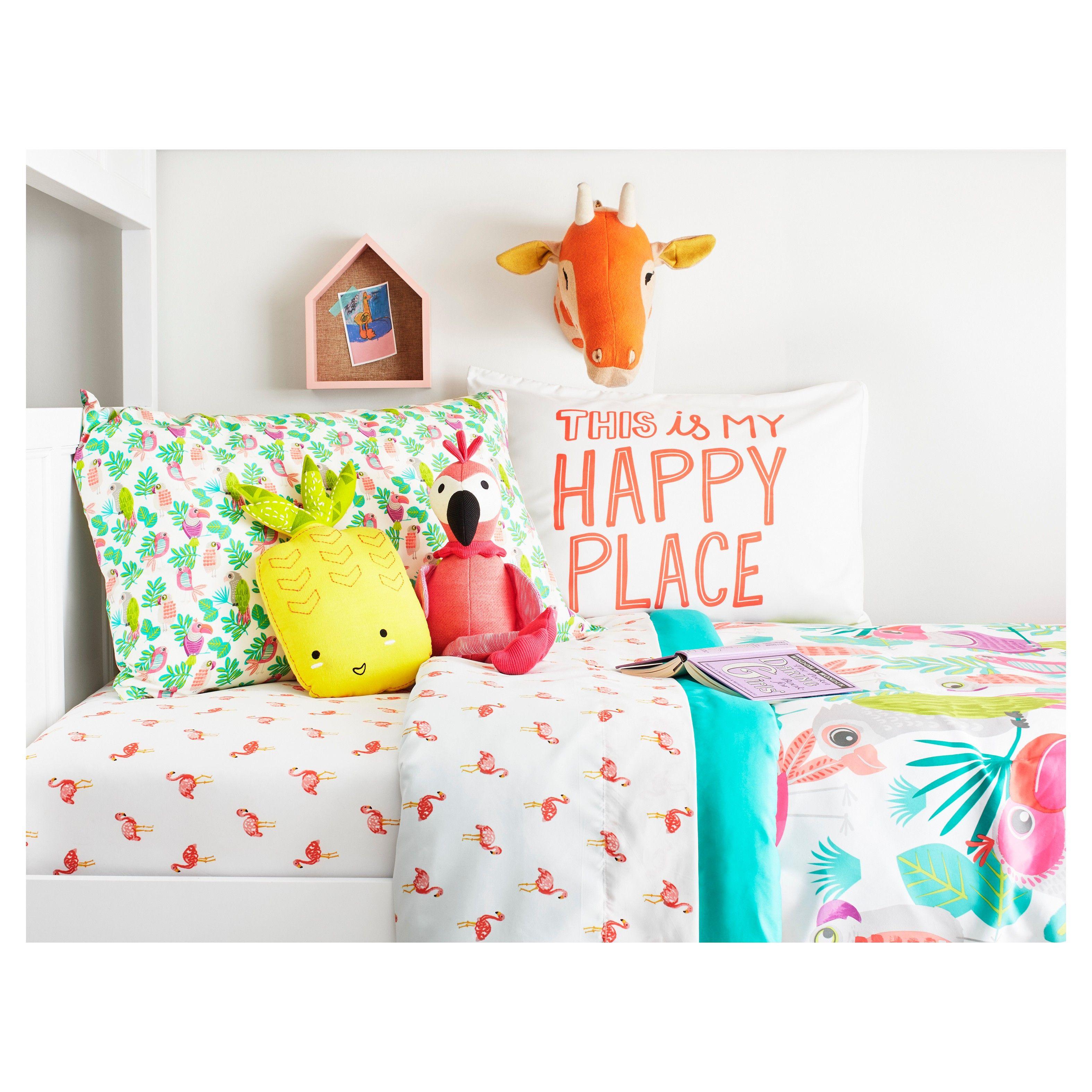 Pillowfort Flamingos Full Sheet Set