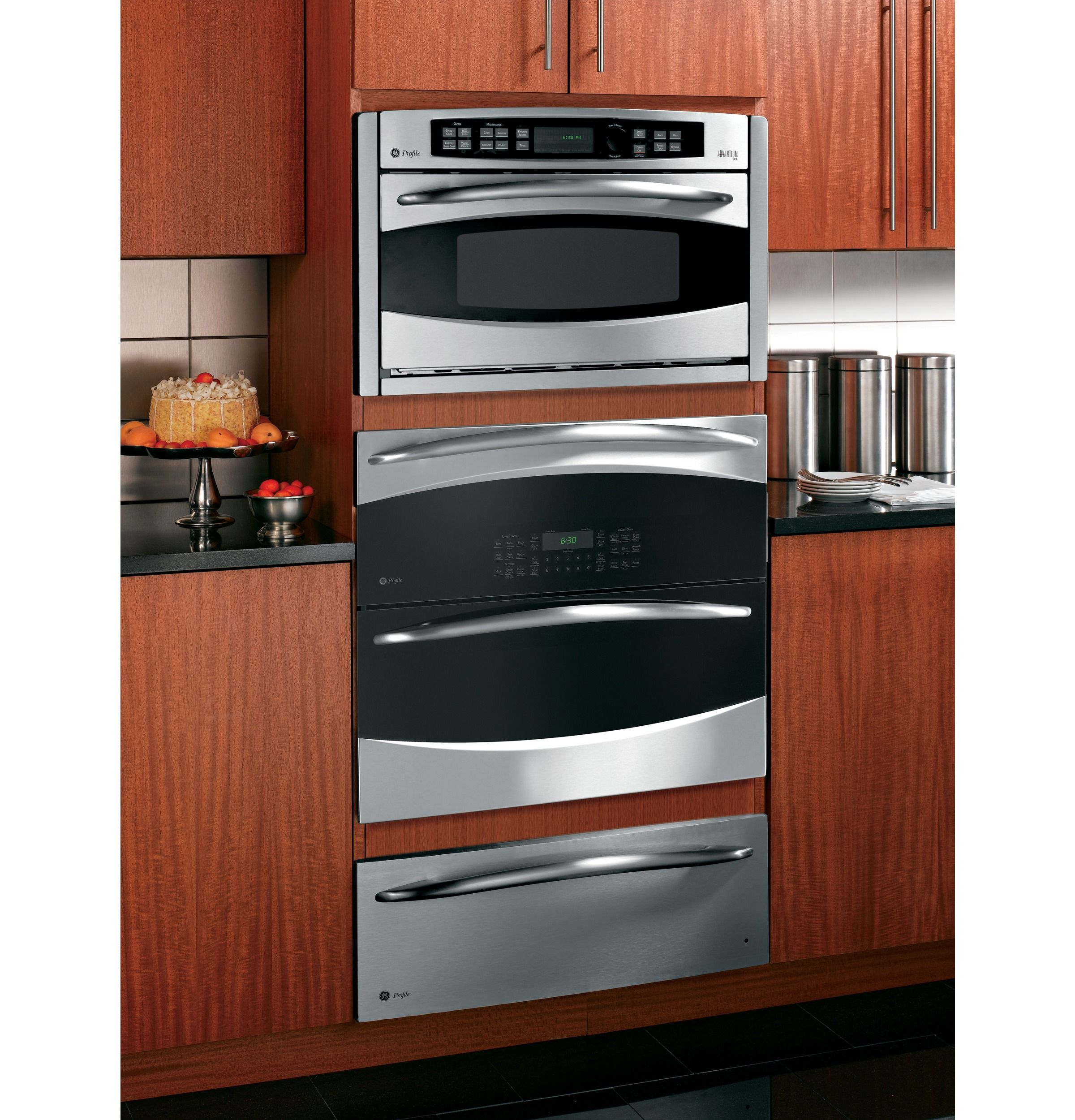 Wall oven under cooktop - Ge Profile 30 Built In Single Double Convection Wall Oven Ge