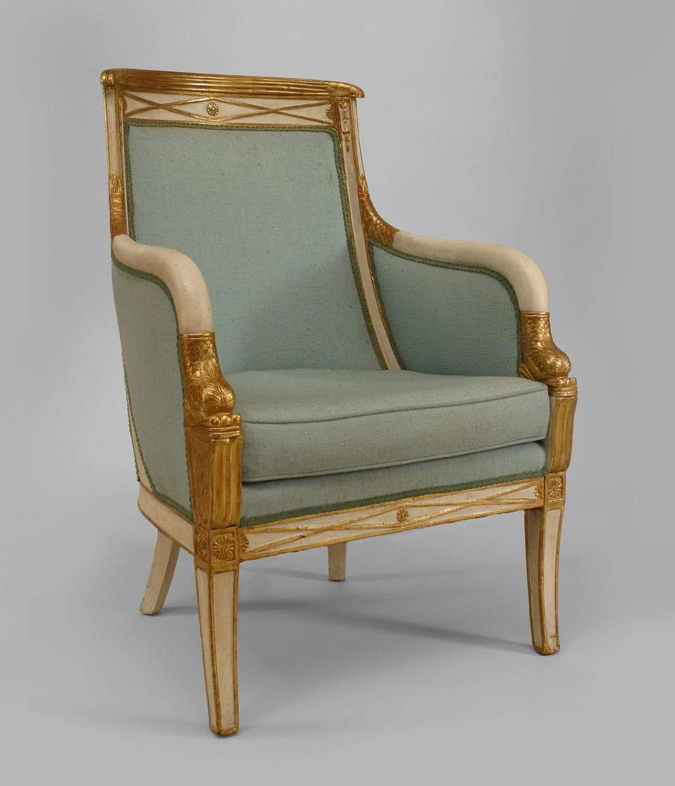 French empire arm chair french style muebles dorados - Muebles italianos clasicos ...