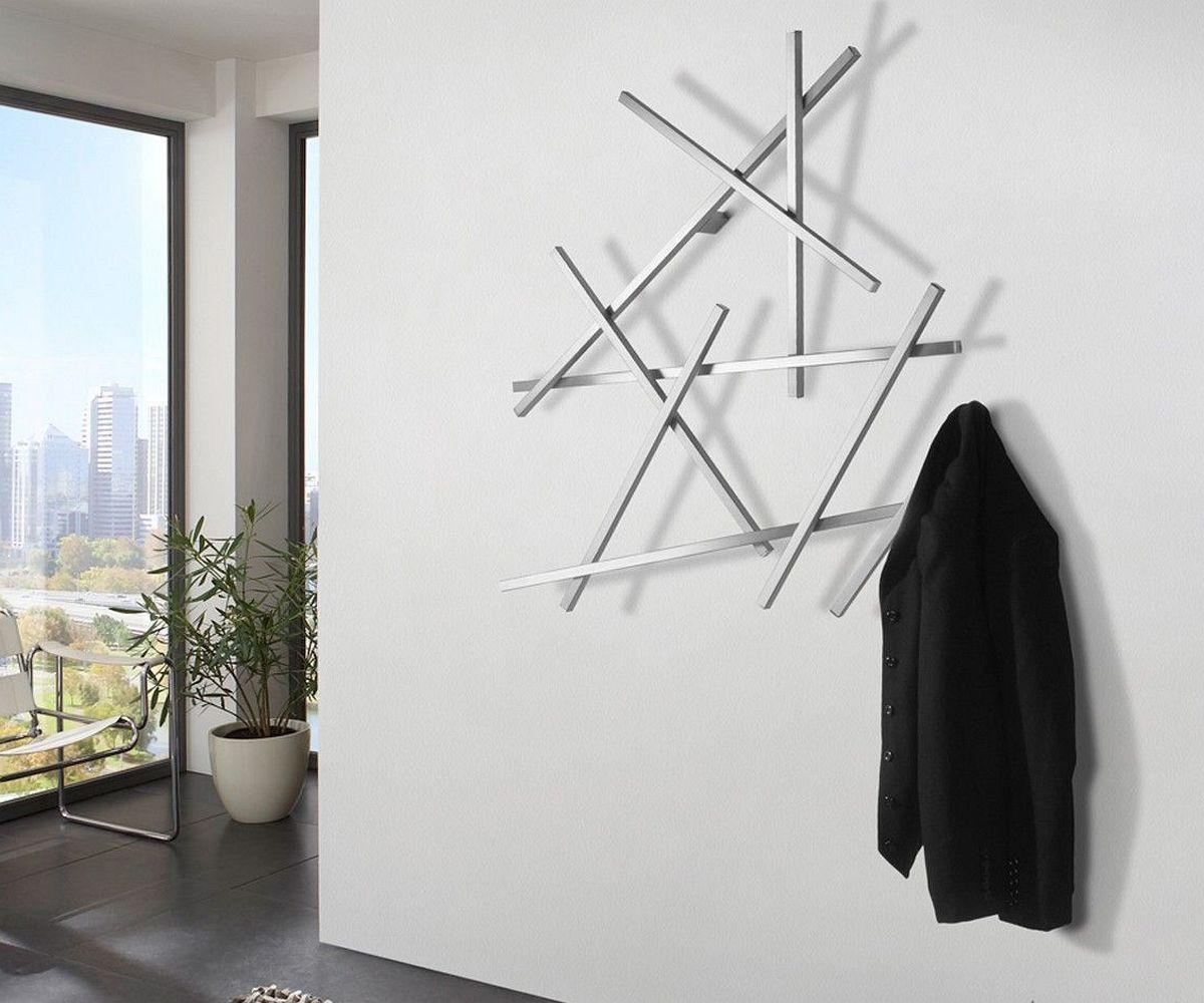 Außergewöhnlich Edelstahl Garderobe Galerie Von Murdoc 100x105 Cm Silberfarben
